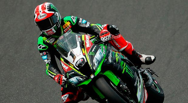 Squeezed out: champion Jonathan Rea was fourth in the final session at Assen