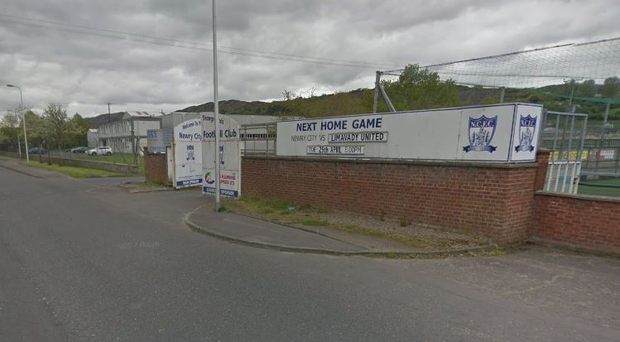 The trouble happened outside the Newry Showgrounds. Pic Google Maps