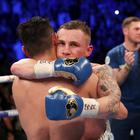 Carl Frampton embraces Nonito Donaire at the end of their epic 12-round bout.