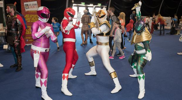 The Power Rangers. Picture Colm O'Reilly Sunday Life