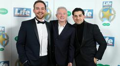 James Burrows, Ryan Clayton and Louis Walsh pictured at the 2018 Spirit of Northern Ireland Awards. Photo by Kelvin Boyes / Press Eye