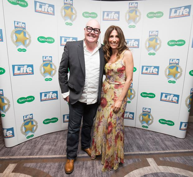 Sunday Life. Spirit of Northern Ireland Awards 2018 Dominic Brunt from Emmerdale, Gaynor Faye from Emmerdale Picture Colm O'Reilly Sunday Life