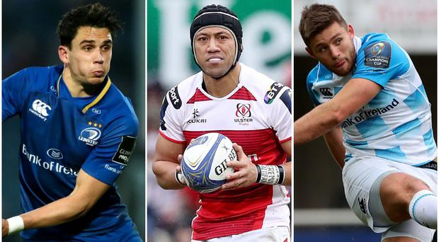 Leinster duo Joey Carbery (left) and Ross Byrne (right) have been linked with a move to Ulster, as has the province's former fly-half Christian Leali'ifano (centre).