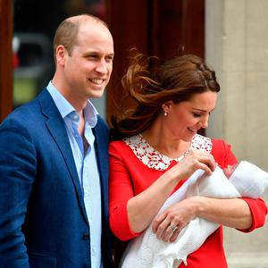 The Duke and Duchess of Cambridge and their newborn son outside the Lindo Wing at St Mary's Hospital in Paddington, London. Photo credit: Dominic Lipinski/PA Wire