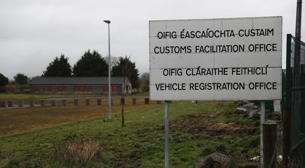 File photo of an abandoned Customs Facilitation Office (Brian Lawless/PA)
