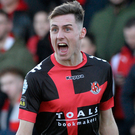 Top man: Crusaders ace Gavin Whyte has had a superb season, scoring 24 goals