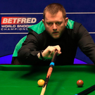 On cue: Mark Allen during his win at the Crucible