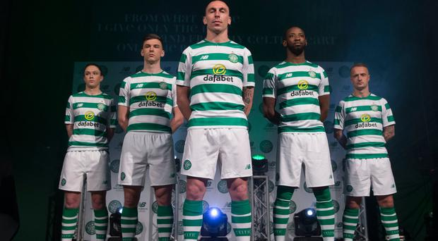 Celtic show off their new home kit for the 2018/19 season
