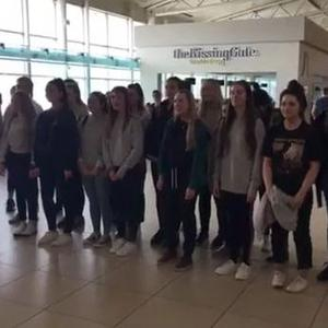 Just one week after competing in a national BBC competition, a chamber choir from Strathearn School in Belfast treated passengers in Liverpool John Lennon Airport to a surprise performance.