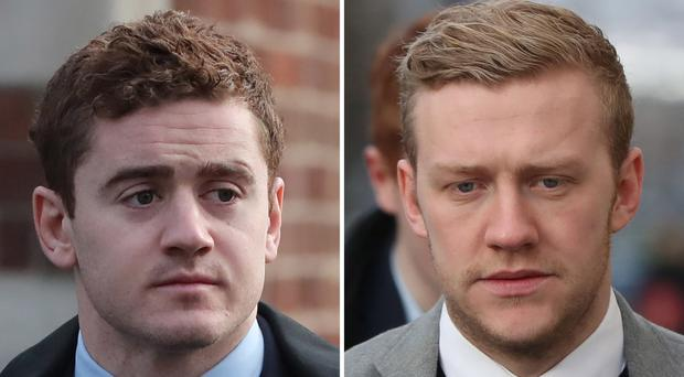 Paddy Jackson, left, and Stuart Olding were acquitted of rape (PA)