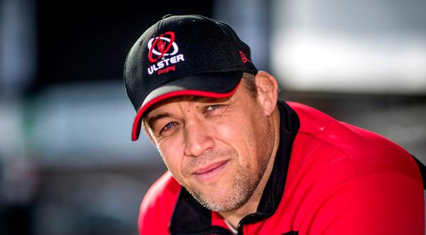 Steely focus: Jono Gibbes refused to be drawn on Brian O'Driscoll's labelling of Ulster as a 'basket case'
