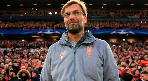 Liverpool manager Jurgen Klopp during the UEFA Champions League, semi-final first-leg match at Anfield