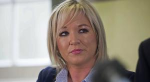 Michelle O'Neill said she also urged Karen Bradley to take action to cut the pay of Assembly members (Mark Marlow/PA)