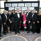 Dr Norman Apsley and colleagues pictured at the Business Awards. Photo by Kelvin Boyes / Press Eye