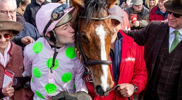 Sealed with a kiss: Faugheen and jockey David Mullins