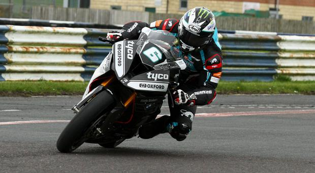 Eyes forward: Michael Dunlop testing his new Tyco bike at Kirkistown this week
