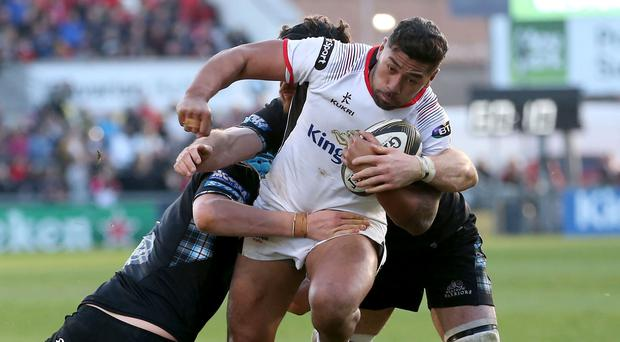 Star quality: Charles Piutau on the charge in the big win over Glasgow at Kingspan last weekend