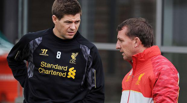Brendan Rodgers was Steven Gerrard's manager at Liverpool.