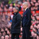 One last duel: Arsene Wenger is preparing to face longtime rival and Manchester United boss Jose Mourinho at Old Trafford