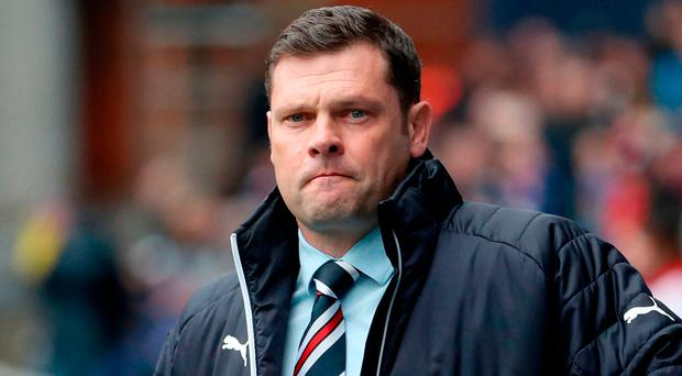 Determined: Graeme Murty is under pressure at Rangers