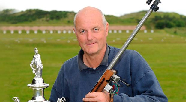 On target: David Calvert after winning the 100th Irish Open Championship Target Rifle Meeting