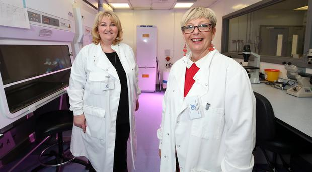 Chemical reaction: Dr Lisa Connolly and Jacquie Loughrey (right) are fighting to prevent cancer through awareness