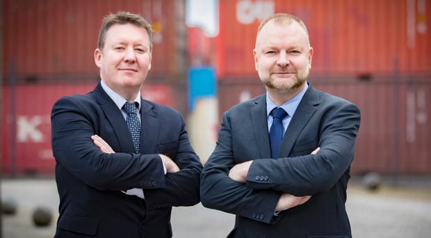 Nijobfinder business managers Peter McMonagle (left) and Colin Maxwell