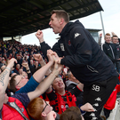 Just fantastic: Stephen Baxter hails Crusaders' title success with the travelling support at the Showgrounds