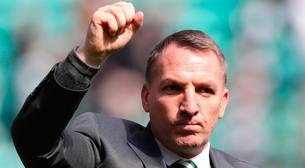 At home: Brendan Rodgers is savouring life with Celtic