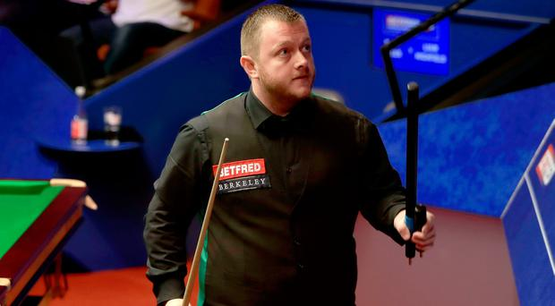 Mark Allen in action at the World Championship.