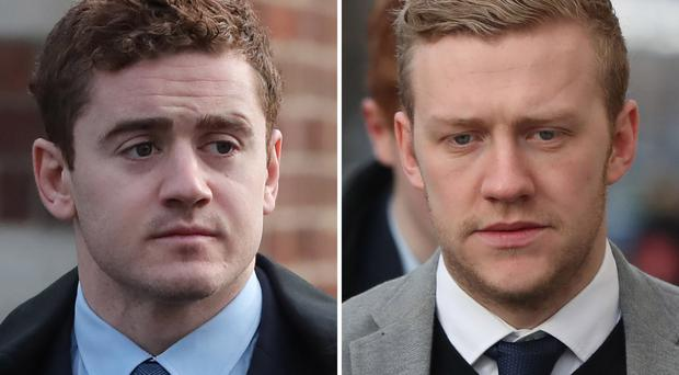 Paddy Jackson (left) and Stuart Olding were sacked by Ulster despite being cleared of rape