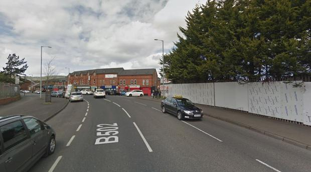 The incident happened at the junction of the Oldpark Road and Rosapenna Street. Pic Google maps