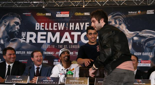 David Haye and Tony Bellew Press Conference – Park Plaza