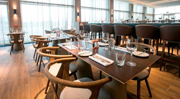 Novelli at City Quays' attractive dining room