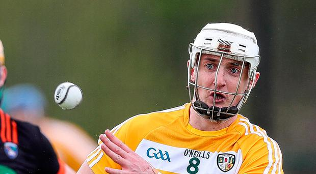 Fully focused: Conor McKinley is inspired by former Antrim players, but claims that having his father Dominic as his manager does not affect him