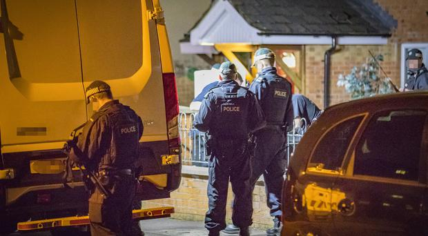 Detectives from PSNI Serious Crime Branch, investigating violent dissident republican activity conducted a search in the Ardoyne area of North Belfast. (Photo by Kevin Scott / Belfast Telegraph)