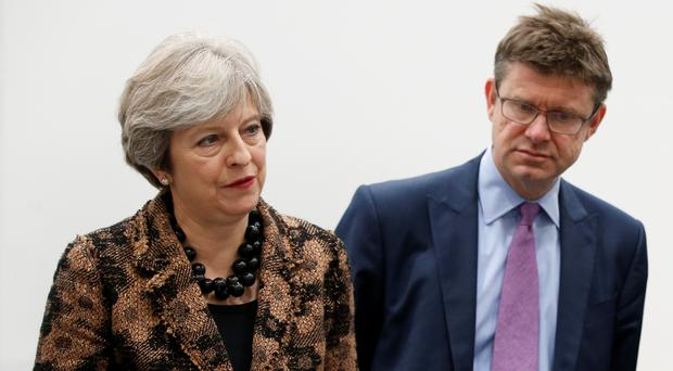 Prime Minister Theresa May and Business Secretary Greg Clark (Andrew Yates/PA)