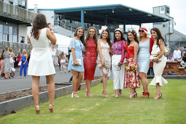 Press Eye - Belfast - Northern Ireland - 7th May 2018 - May Day Meeting at Down Royal Racecourse. Racegoers pictured at the County Down racecourse. Photo by Kelvin Boyes / Press Eye