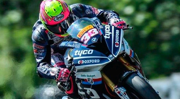 Rising up: Keith Farmer, pictured yesterday, climbed to second in the standings after British Superstock 1000cc success at Oulton Park