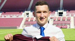 Bobby Burns signed for Hearts in the summer.