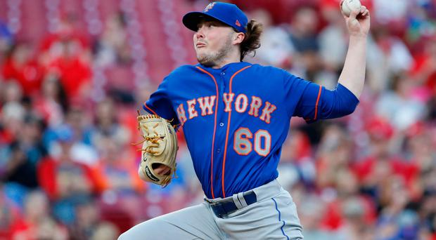 Milestone night: Belfast-born PJ Conlon pitched for the New York Mets in Monday's 7-6 win over the Cincinnati Reds