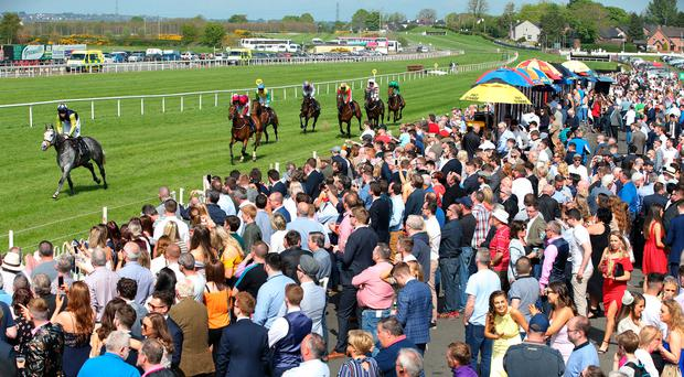 Punters enjoy the racing at Down Royal's May Day event on Monday
