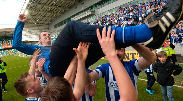 OK is okay: Coleraine lifted the cup and manager Oran Kearney on Saturday