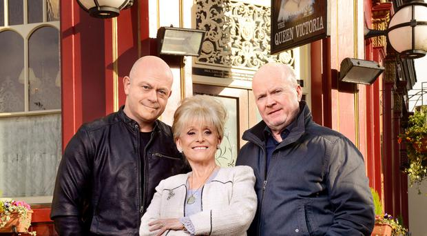 Ross Kemp, Dame Barbara Windsor and Steve McFadden (Kieron McCarron/BBC)