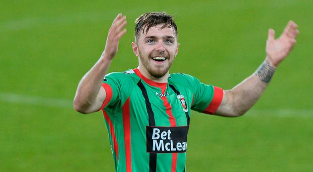 Big plans: Robbie McDaid is keen to shoot the Glens into Europe