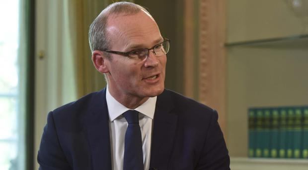 Simon Coveney on The Andrew Marr Show (BBC/PA)