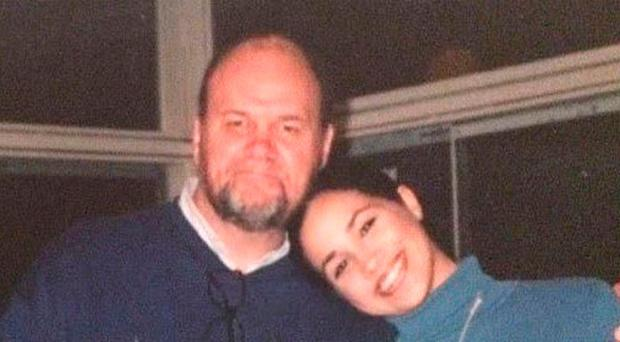 Meghan with her father