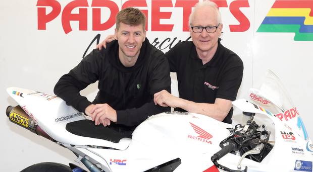 Teaming up: Ian Hutchinson and Clive Padgett will be hoping to make a statement at the North West 200