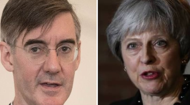 Reports suggest Jacob Rees Mogg and Theresa May clashed over the Irish border issue.