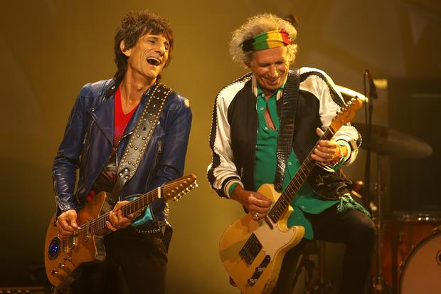 Ronnie Wood and Kieth Richards of The Rolling Stones (Photo by Paul Kane/Getty Images)